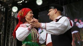 Występ Zespołu Tańca Ludowego Ostrołęka i Zespołu Tańca Ludowego Pod Borem z Zawad