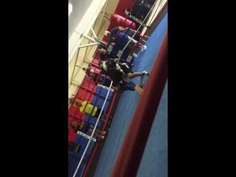 David campos sparring Brayden quiroz
