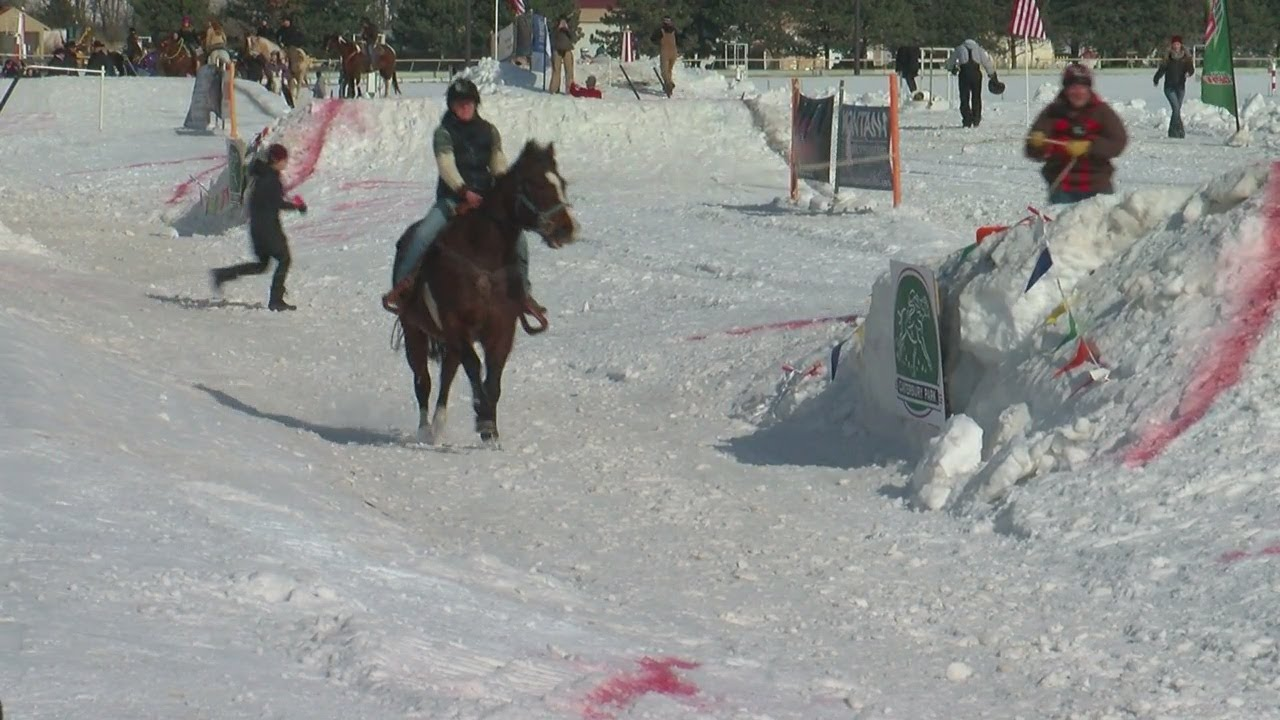 What's More Extreme Than Skijoring With A Horse?