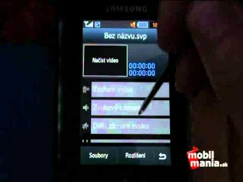 Samsung S8000 Jet: Menu