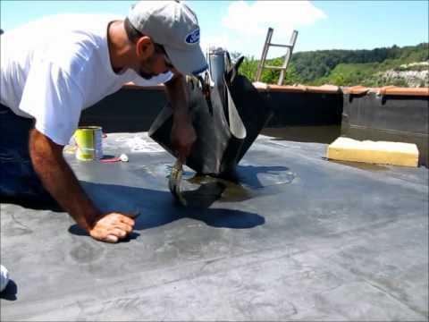 Epdm Pipe Flashing Repair Flat Roof Youtube