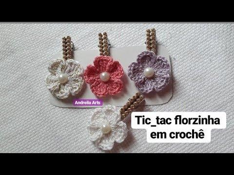 Tic tac  florzinha em crochê parte 2