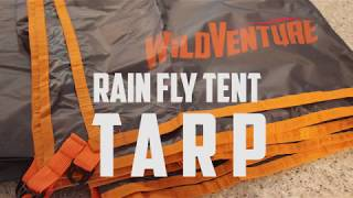 WildVenture rain fly tent tarp unboxing and review