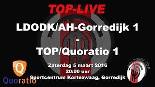 LDODK/AH-Gorredijk 1 tegen TOP/Quoratio 1, zaterdag 5 maart 2016