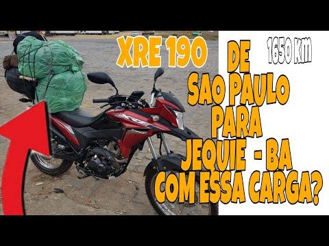 Viagem de xre 190 de São Paulo a Jitaúna - Ba 1650 km 04.12.2019