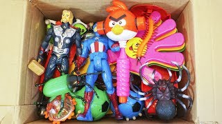 - Box Full of Toys truck,spinners,spider man,angry birds,Action Figures