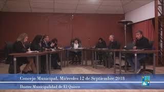 Concejo Municipal Miércoles 12 de Septiembre 2018