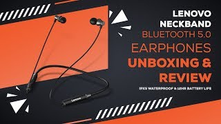 Lenovo HE05 Bluetooth Magnetic Neckband Earphones with IPX5 Waterproof & 12Hr Battery Life । Review