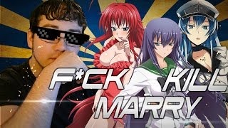 F*ck, marry, kill - anime edition! professor anime & anim3recon