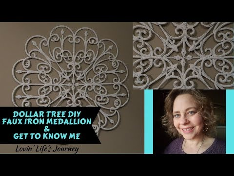 dollar-tree-diy-faux-iron-wall-medallion-&-get-to-know-me