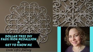 Dollar Tree Diy Faux Iron Wall Medallion & Get To Know Me