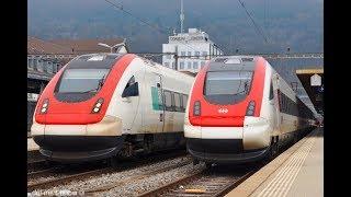 スイス国鉄の特急列車 : ICN (出発・到着)