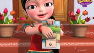 Learn Weekdays Tamil Rhymes for Children