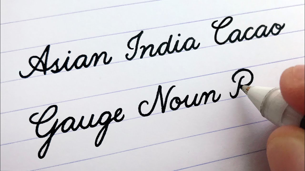 Cursive Writing - Words (A to Z)  For Beginners