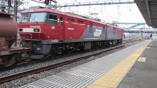 JJR貨物 EH500-62(仙貨)牽引 5097レ 大宮駅 発車(起動音あり)