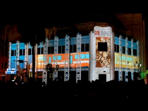 Menakjubkan!! Video Mapping di Gedung BNI (Festival Kesenian Yogyakarta) Video Mapping Indonesia