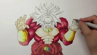 Tutorial Passo a Passo Como Desenhar Broly SSJ4 / O Personagem Mais Poderoso de Dragon Ball