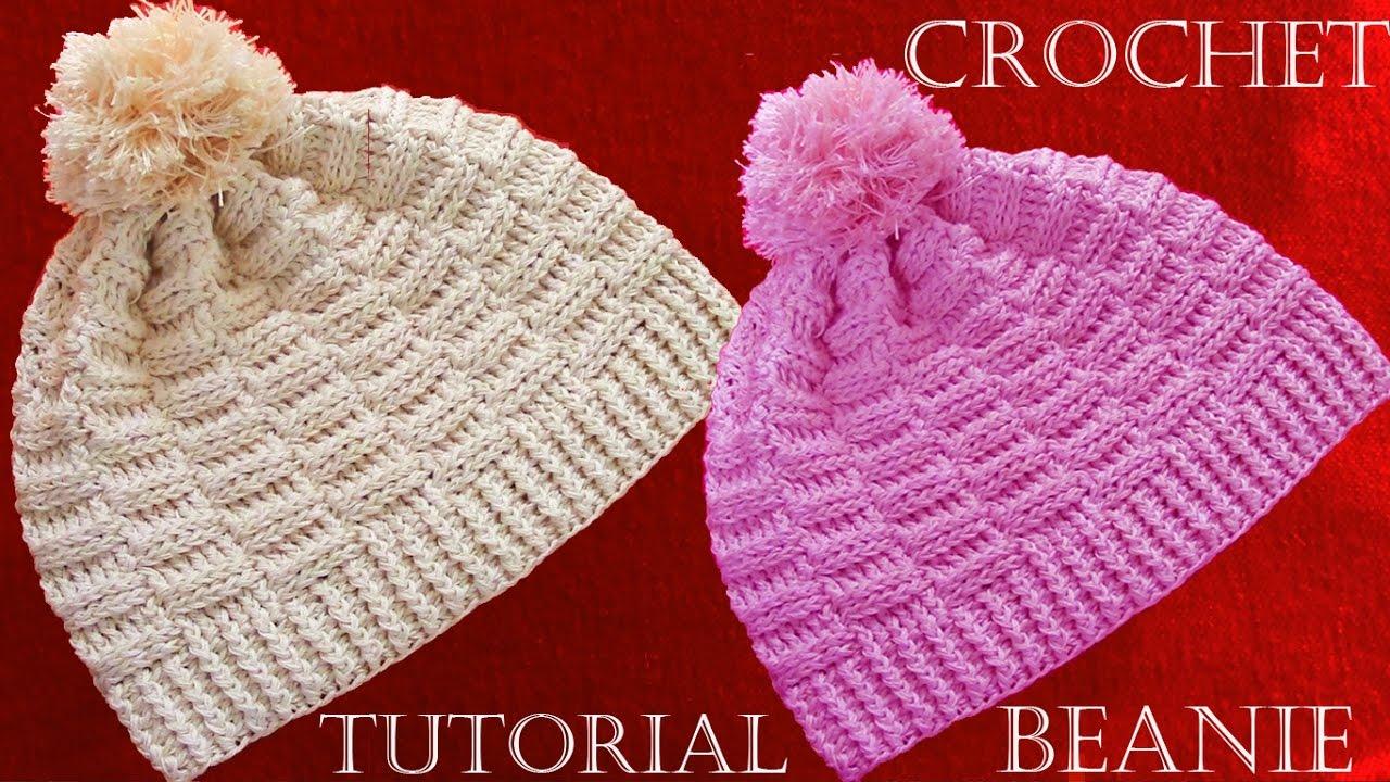 Como hacer gorros a Crochet - Crochet Beanie Tutorial - YouTube a0e7ad62f42