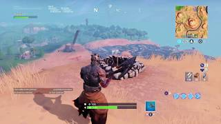 Fortnite: Skin prisoner stage 2 campfire on the mountain towards Paradise Palms!