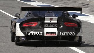 SRT Viper GT3-R In Action On Track - Accelerations & Fly Bys