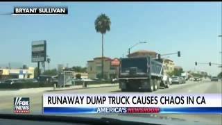 'He just took out that car!' Dump truck plows into vehicles