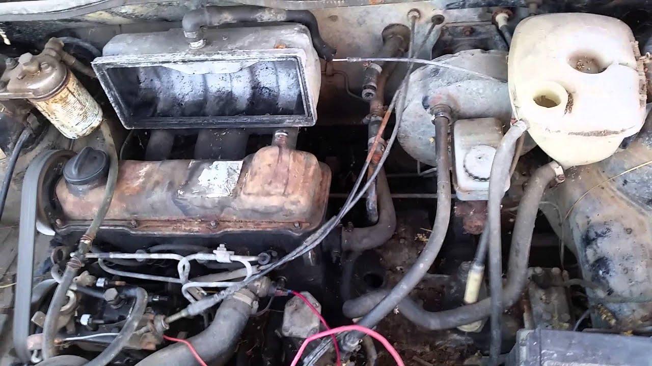 Black 1981 Diesel Vw Rabbit Engine Test