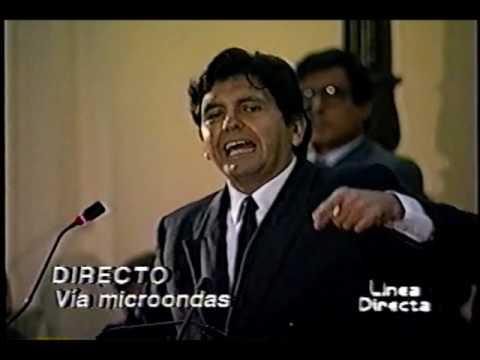 Defensa de Alan García en el Senado 1991