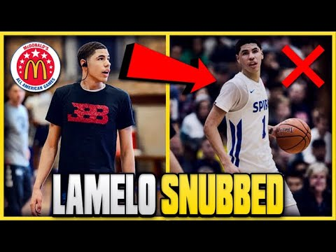 4b6106c21e38 The REAL Reason LAMELO BALL Was SNUBBED From The MCDONALDS  All American  Game!