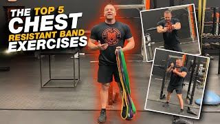 Top 5 Resistance Band Exercises For Chest