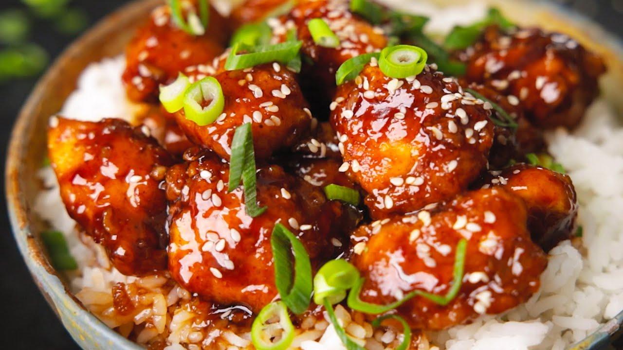 Crispy Sesame Chicken With A Sticky Asian Sauce Nicky S Kitchen Sanctuary
