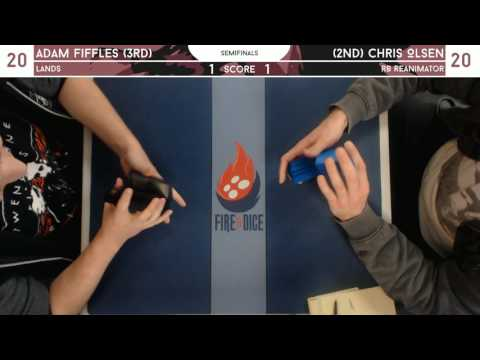 Legacy @ Fire & Dice - Seminfinals [3/5/17] - Adam Fiffles (Lands) v Chris Olsen (RB Reanimator)