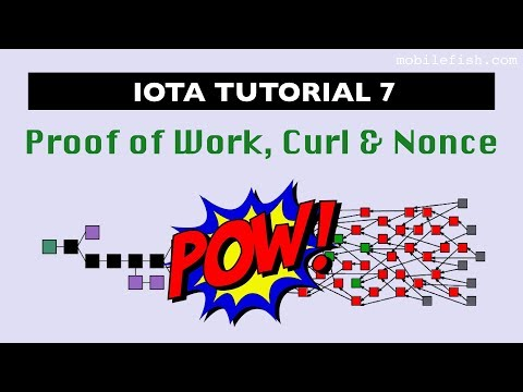 IOTA tutorial 7: Proof of Work, Curl and Nonce