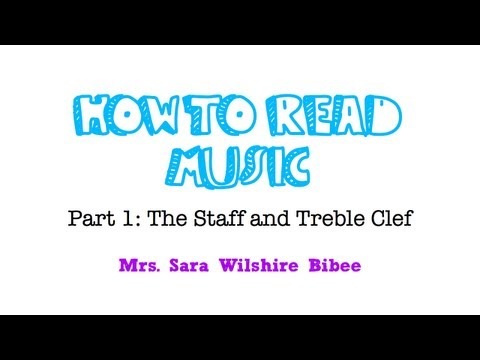 How to Read Music- The Staff and Treble Clef