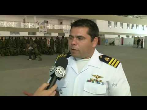 SBT Brasil (05/07/16) Segurança da Olimpíada contará com cinco mil homens da Força Nacional