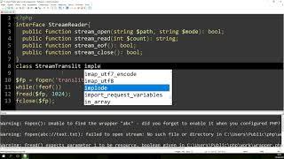 Реализация собственного протокола потока на PHP