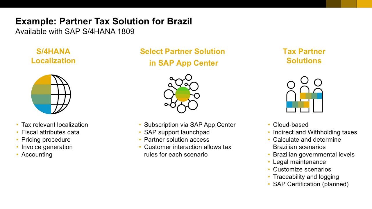 SAP S/4HANA 1809 - Tax Service