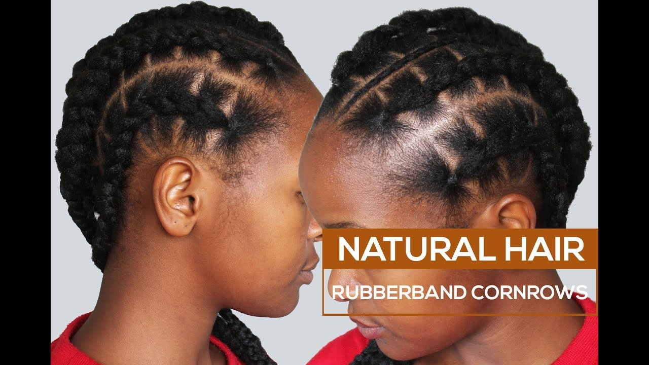 How To Rubberband Cornrows Youtube