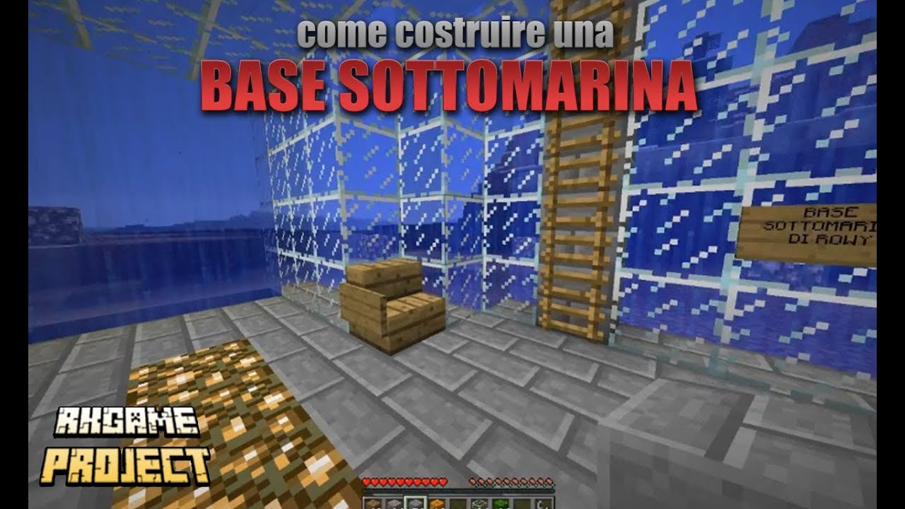 Come costuire una casa sott 39 acqua su minecraft con parete for Come livellare una casa