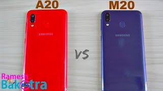 Samsung Galaxy A20 vs M20 SpeedTest and Camera Comparison