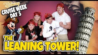 WE LOST OUR TOUR GUIDE!!! Pirate Night & The Leaning Tower of Pisa! Mediterranean Cruise Week- DAY 5