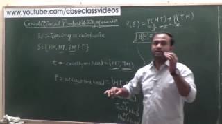Conditional Probability   CBSE 12 Maths NCERT Ex 13.1 intro (Part 1)