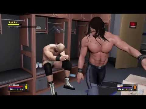WWE 2K17 - Erste Gameplay-Szenen inkl. Ladder-Match und Backstage (deutsch / German)