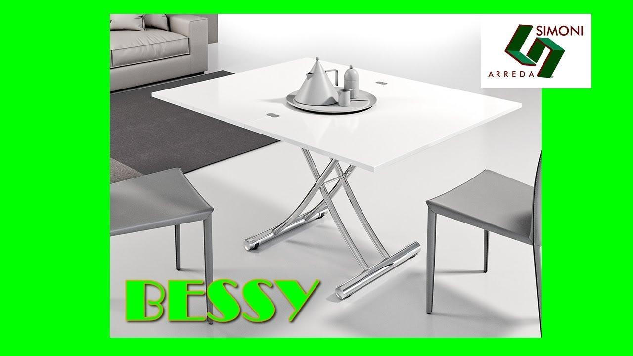 Tavolino trasformabile in tavolo modello bessy youtube for Simoni arreda milano
