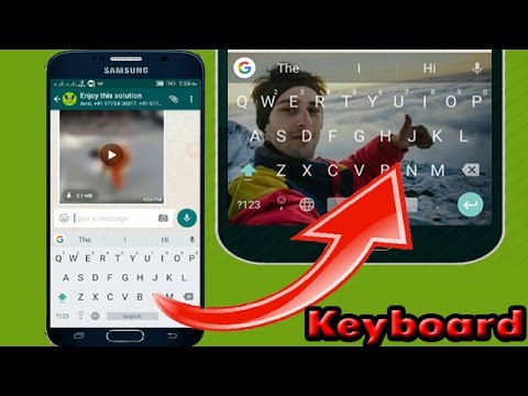 How To Set Wallpaper On Keyboard Youtube