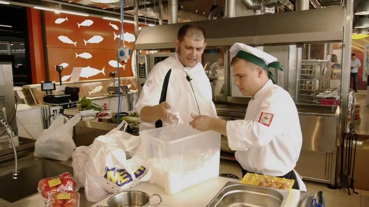 Щука в духовке мастер класс + видео #10