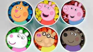 Pig Family & Friends Fancy Dress Party Toy Set With George & M&m's Candy