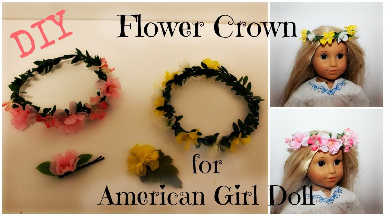 How to make a flower crown for your american girl doll easy diy how to make a flower crown for your american girl doll easy diy izmirmasajfo