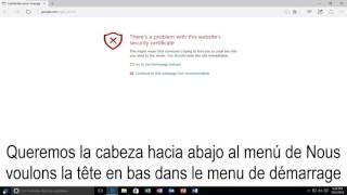 """""""Il Existe Un Problème Avec Le Certificat De Sécurité De Ce Site Web"""" - Solution Rapide!!!"""