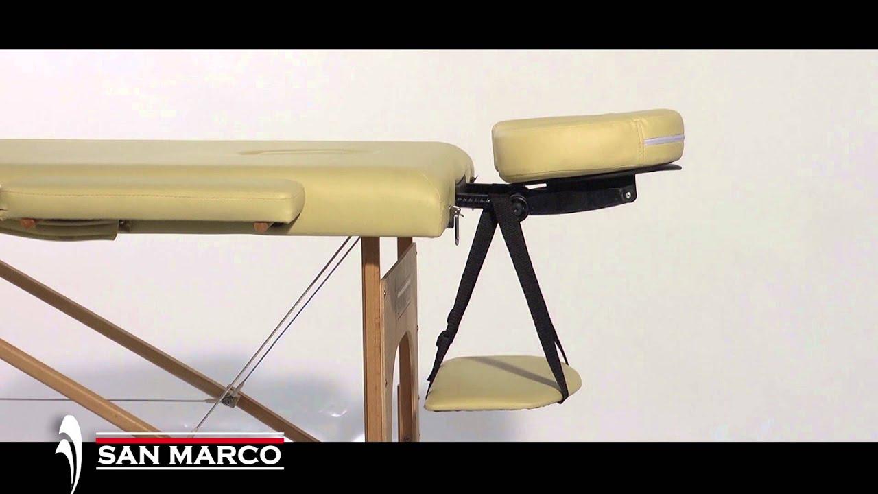 Lettino Massaggio Portatile San Marco.Lettino Massaggio In Legno A 2 Sezioni San Marco Youtube