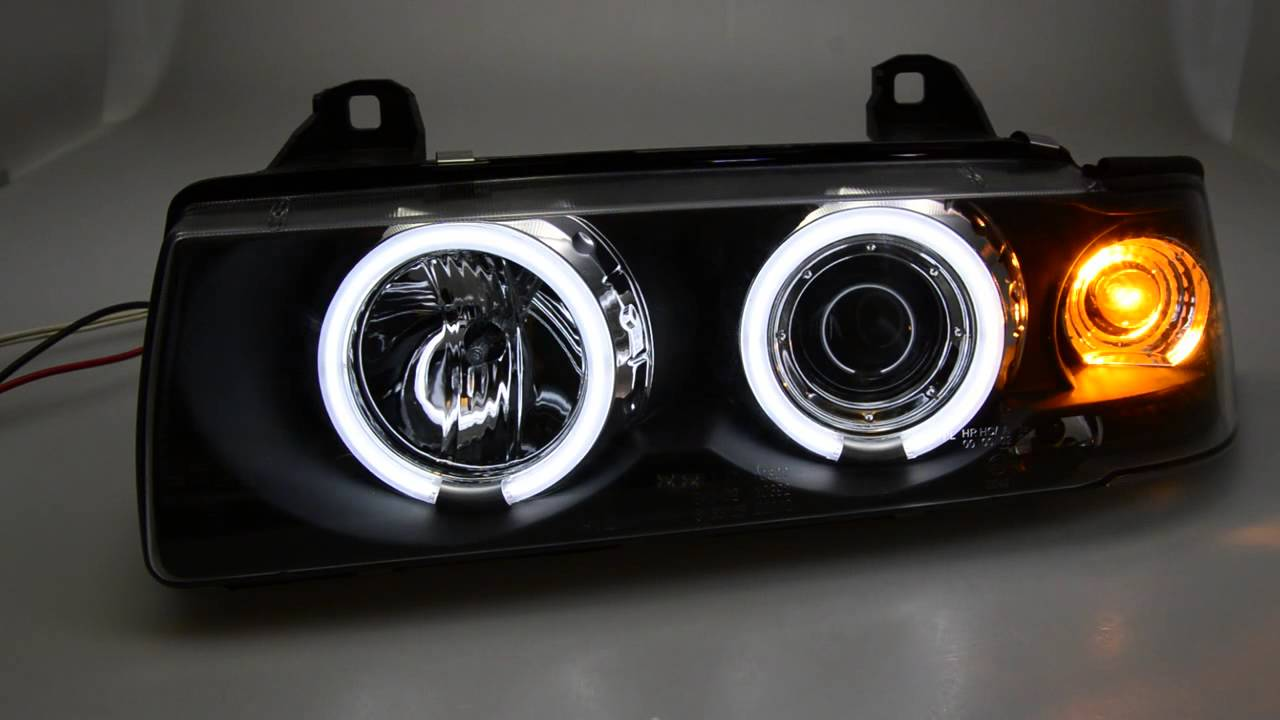 sw ccfl angel eye scheinwerfer 3er bmw e36 cabrio coupe. Black Bedroom Furniture Sets. Home Design Ideas